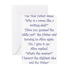 The Mad Hatter, The Raven and The Writing Desk Gre