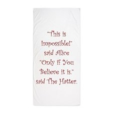 This is impossible! Beach Towel
