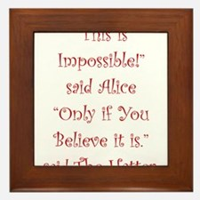 This is impossible! Framed Tile