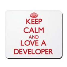 Keep Calm and Love a Developer Mousepad