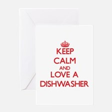 Keep Calm and Love a Dishwasher Greeting Cards