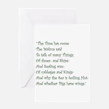 The Time Has Come The Walrus Said Greeting Cards