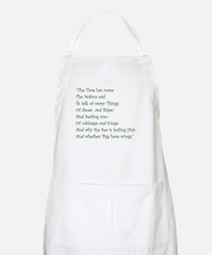 The Time Has Come The Walrus Said Apron