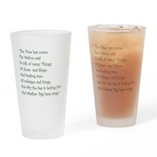 The Time Has Come The Walrus Said Drinking Glass