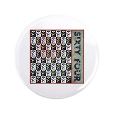 """Sixty Four Skulls 3.5"""" Button (100 pack)"""