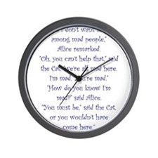 Were All Mad Here! Wall Clock