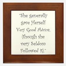 Very Good Advice Framed Tile