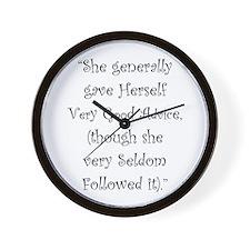 Very Good Advice Wall Clock