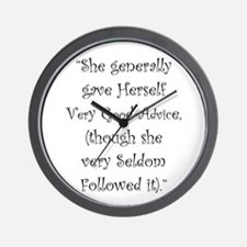 Very Good Advice Wall Clock