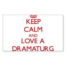 Keep Calm and Love a Dramaturg Decal