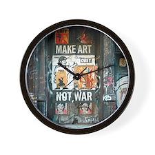 Unique Make art not war Wall Clock