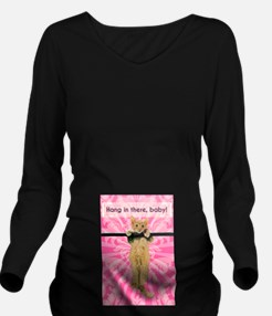 Hang In There Baby K Long Sleeve Maternity T-Shirt