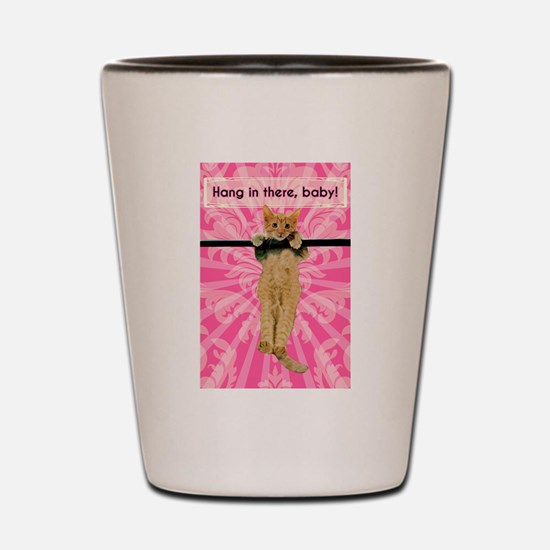 Hang In There Baby Kitten Shot Glass