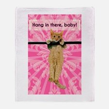 Hang In There Baby Kitten Throw Blanket