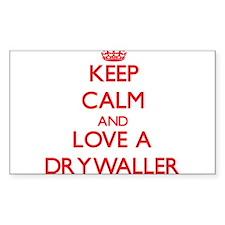 Keep Calm and Love a Drywaller Decal