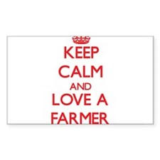 Keep Calm and Love a Farmer Decal