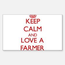 Keep Calm and Love a Farmer Decal