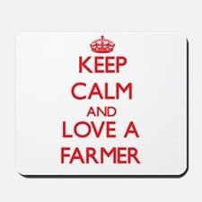 Keep Calm and Love a Farmer Mousepad