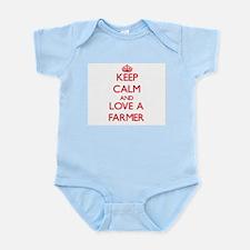 Keep Calm and Love a Farmer Body Suit