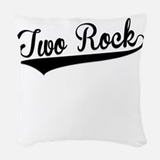 Two Rock, Retro, Woven Throw Pillow