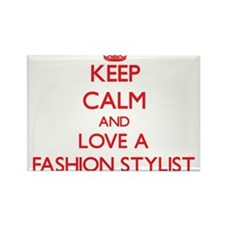 Keep Calm and Love a Fashion Stylist Magnets