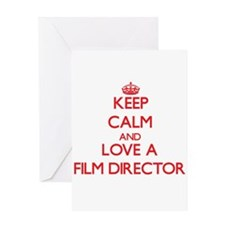 Keep Calm and Love a Film Director Greeting Cards