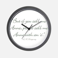 Anne with an E Wall Clock