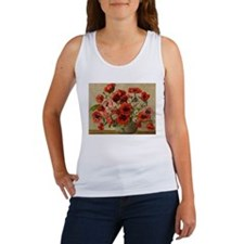 Red Poppy Bouquet Tank Top