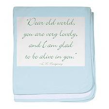 Dear old world baby blanket
