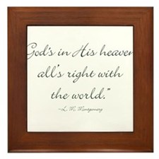 Gods in His heaven, alls right with the world Fram