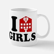 I Love Hotel Girls Mugs