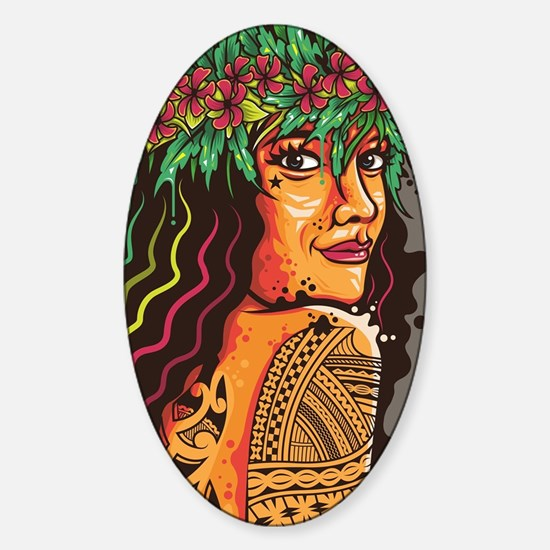 Tattooed Lady Sticker (Oval)