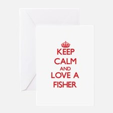 Keep Calm and Love a Fisher Greeting Cards