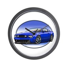 GT Stang Blue Wall Clock