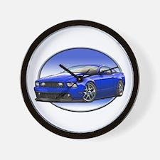 GT Stang Blue Wall Clock