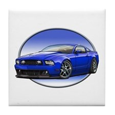 GT Stang Blue Tile Coaster