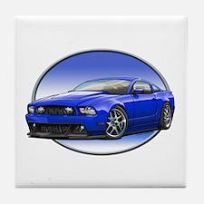 GT Stang Blue Tile Coaster
