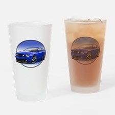 GT Stang Blue Drinking Glass