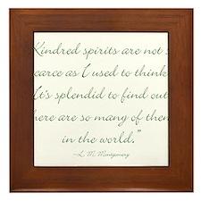 Kindred Spirits are not scarce Framed Tile