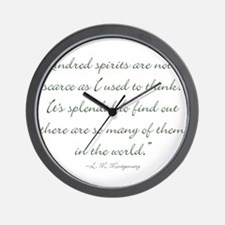 Kindred Spirits are not scarce Wall Clock
