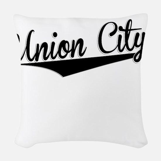 Union City, Retro, Woven Throw Pillow