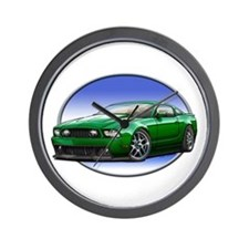 GT Stang Green Wall Clock