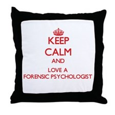 Keep Calm and Love a Forensic Psychologist Throw P