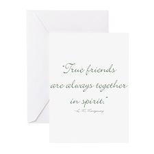 True friends are always together in spirit Greetin