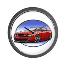 GT Stang Red Wall Clock