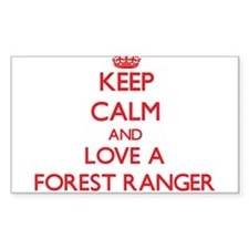 Keep Calm and Love a Forest Ranger Decal