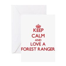 Keep Calm and Love a Forest Ranger Greeting Cards