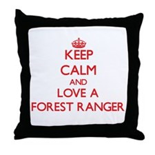 Keep Calm and Love a Forest Ranger Throw Pillow
