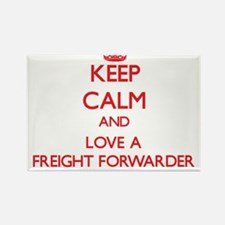 Keep Calm and Love a Freight Forwarder Magnets