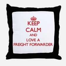 Keep Calm and Love a Freight Forwarder Throw Pillo